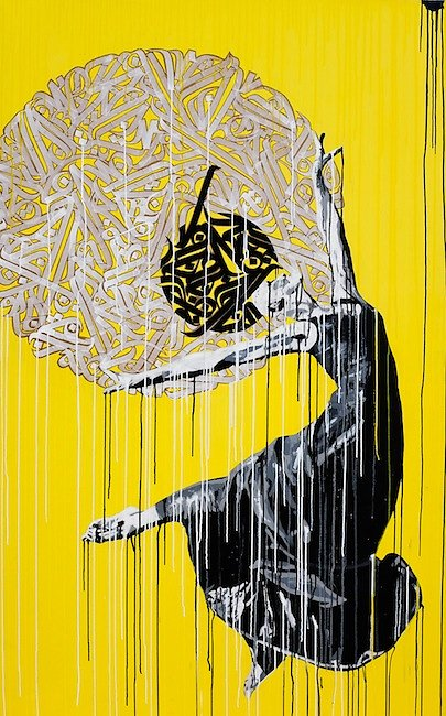 No name - collage, acrylic and ink on canvas 200x125 cm-SOLD OUT-