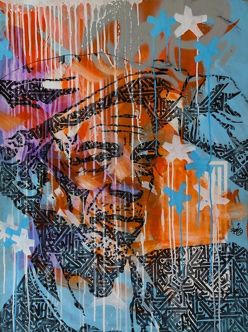Gil - acrylic and ink on paper (500g) - 80x60 cm-SOLD OUT-